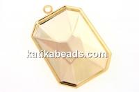 Swarovski pendant base 4627, gold-plated, 27x18.5mm