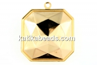 Swarovski pendant base 4675, gold-plated, 23x23mm