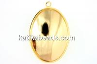 Swarovski pendant base 4127, gold-plated, 30x22mm