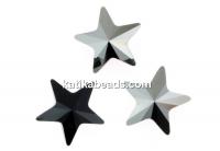 Swarovski, fancy star, jet metallic silver, 10mm - x1