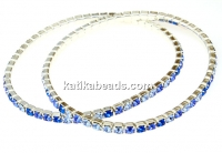 1088 Swarovski aqua blue mix bracelet, silver plated, 18cm - x1