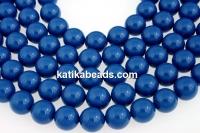 Swarovski pearls, lapis, 14mm - x2