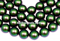 Swarovski pearls, scarabaeus green, 14mm - x2