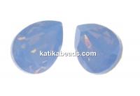 Swarovski drop fancy, air blue opal, 8x6mm - x2