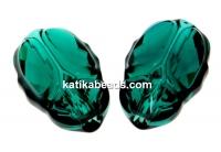 Swarovski, scarabeus bead emerald, 12mm - x1
