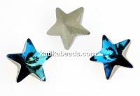 Swarovski, fancy star, bermuda blue, 5mm - x2
