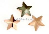 Swarovski, fancy star, rose gold, 5mm - x2