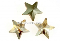 Swarovski, fancy star, golden shadow, 5mm - x2