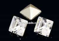 Swarovski, fancy chaton square, crystal, 2mm - x20