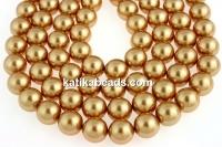 Swarovski pearls, bright gold, 16mm - x1