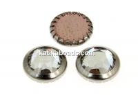 Swarovski, crystal cabochon hotfix, rhodium-plated, crystal, SS34 - x4