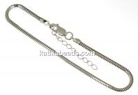 Bracelet for Swarovski Becharmed, rhodium-plated 925 silver, 18+4cm - x1