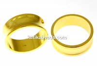 Ring base, crystal setting, gold-plated 925 silver, inside 18.2mm - x1