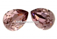 Swarovski, drop fancy, antique pink, 10x7mm - x1