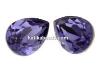 Swarovski, drop fancy, tanzanite, 10x7mm - x1