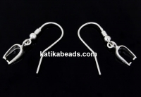 Earring findings, 925 silver, 28mm - x1pair