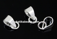 Extension system for pendants, 925 silver, 9mm - x1