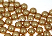 Swarovski one hole pearls, bright gold, 6mm - x4