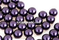 Swarovski one hole pearls, dark purple, 4mm - x4
