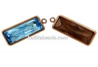 Swarovski vintage copper-plated pendant base 4547, 24x8mm - x1