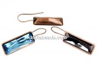 Swarovski vintage copper-plated earrings base 4547, 24x8mm - x1pair