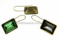 Swarovski bronze earrings base4527, 14x10mm - x1pair
