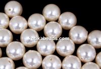 Swarovski one hole pearls, creamrose light, 10mm - x2