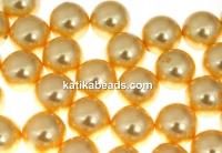 Swarovski one hole pearls, gold, 8mm - x2