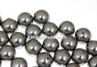 Swarovski one hole pearls, grey, 6mm - x4