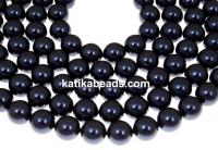 Swarovski pearl, night blue, 7mm - x50