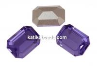 Swarovski, rectangle fancy, tanzanite, 14x10mm - x1