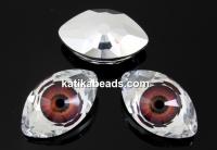 Swarovski Rivoli cabochon Eye, maroon, 18mm - x1