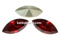 Swarovski navette, fancy chaton, scarlet, 15mm - x2