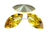Swarovski navette, fancy chaton, light topaz, 8mm - x4