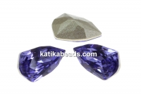 Swarovski, fancy rivoli Trilliant, tanzanite, 7.8mm - x2