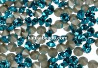 Swarovski, chaton PP18, blue zircon, 2.5mm - x20