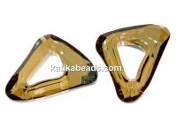Swarovski, cosmic pendant triangle, bronze shade, 14mm - x1