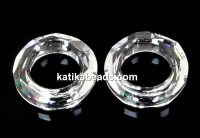 Swarovski, cosmic pendant ring, crystal, 14mm - x1