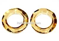 Swarovski, cosmic pendant ring, golden shadow, 20mm - x1