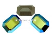Swarovski Rivoli cabochon, emerald aurore boreale, 18x13mm - x1