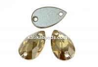 Swarovski drop link, golden shadow, 12x7mm - x1