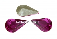 Swarovski, fancy rivoli Pear, fucsia, 10mm - x2