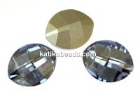 Swarovski, fancy rivoli, pure leaf, blue shade, 10mm - x1