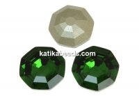 Swarovski, fancy solaris, dark moss green, 14mm - x1