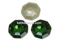 Swarovski, fancy solaris, dark moss green, 14mm - x1