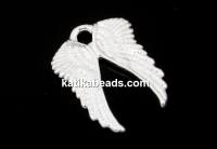 Pendant, angel wings, 925 silver, 11mm  - x1