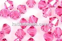 Swarovski, bicone bead, rose, 3mm - x20