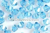 Swarovski, bicone bead, aquamarine, 3mm - x20