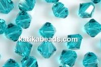 Swarovski, bicone bead, blue zircone, 3mm - x20