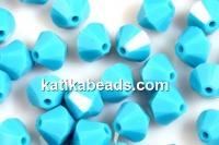Swarovski, bicone bead, turquoise, 3mm - x20